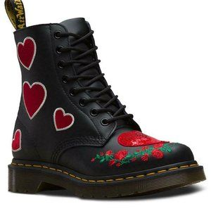 Dr. Martens Pascal Sequin Hearts Boots